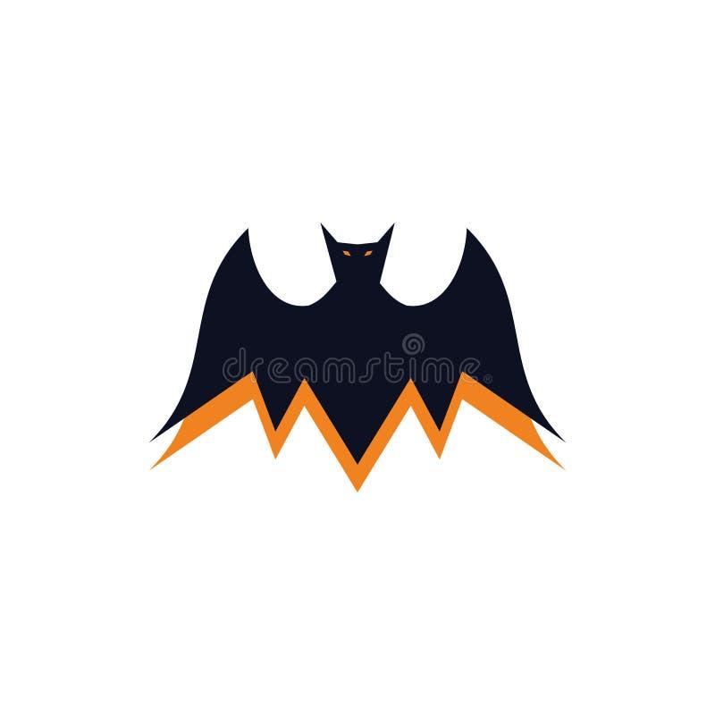 Ejemplos del símbolo del vampiro del palo o concepto malvados del logotipo stock de ilustración