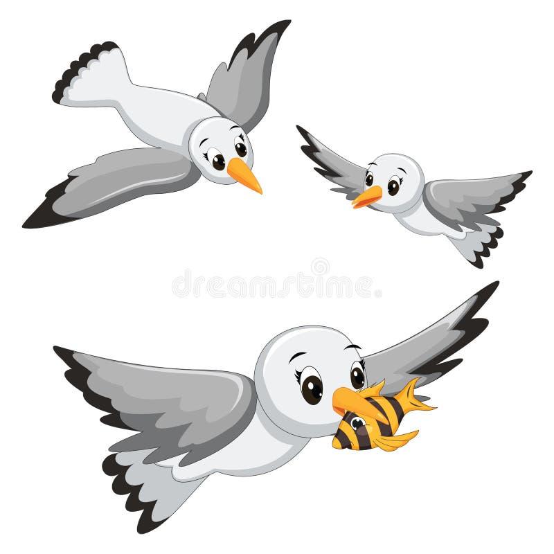 Ejemplos del vector de las gaviotas stock de ilustración
