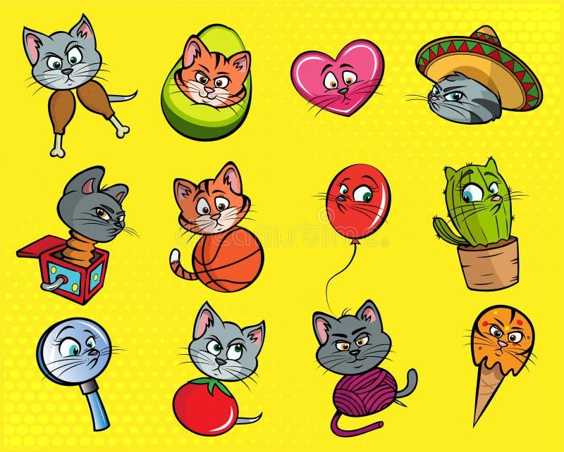 Ejemplos divertidos del gato libre illustration