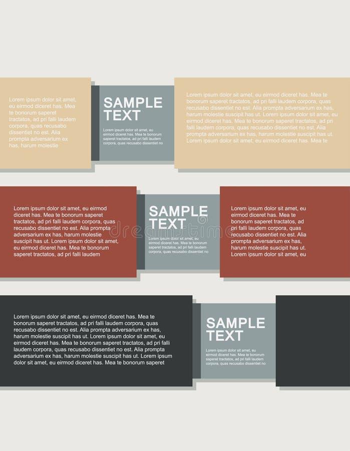Ejemplos planos del infographics del negocio imagen de archivo