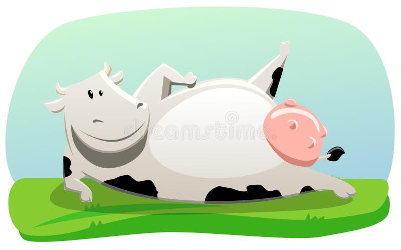 Ejercicio de la vaca ilustración del vector