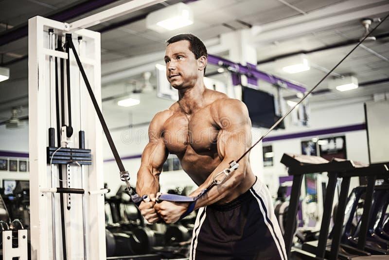 Ejercicio muscular del hombre imagenes de archivo