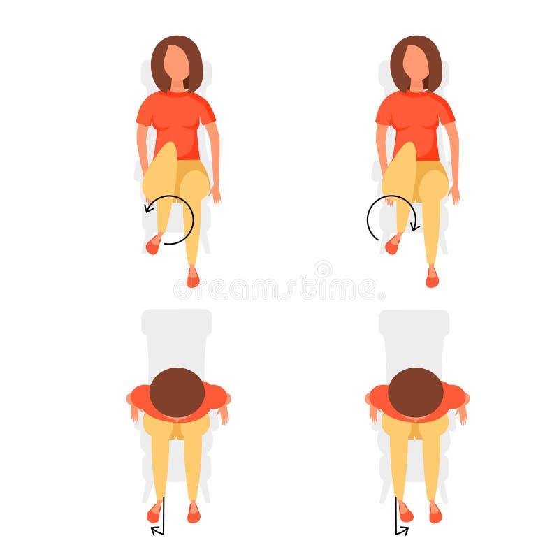 Ejercicios del deporte para la oficina stock de ilustración