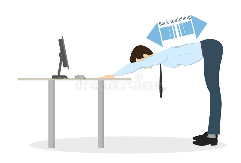 Ejercicios del deporte para la oficina ilustración del vector