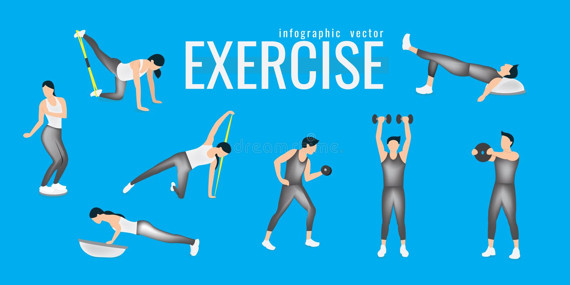 ejercicios mujer delgada en el traje que hace entrenamiento de la aptitud Active a stock de ilustración