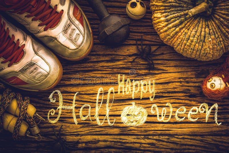 ejercite, día del feliz Halloween con la aptitud, elaboración sana fotografía de archivo