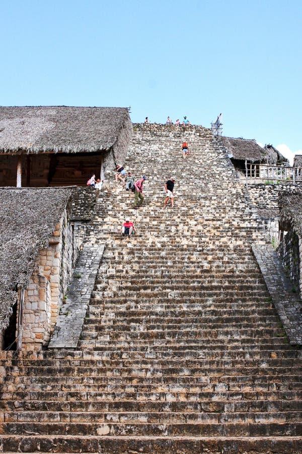 Ek Balam Acropolis the ancient mayan ruins in Yucatan Mexico stock photo