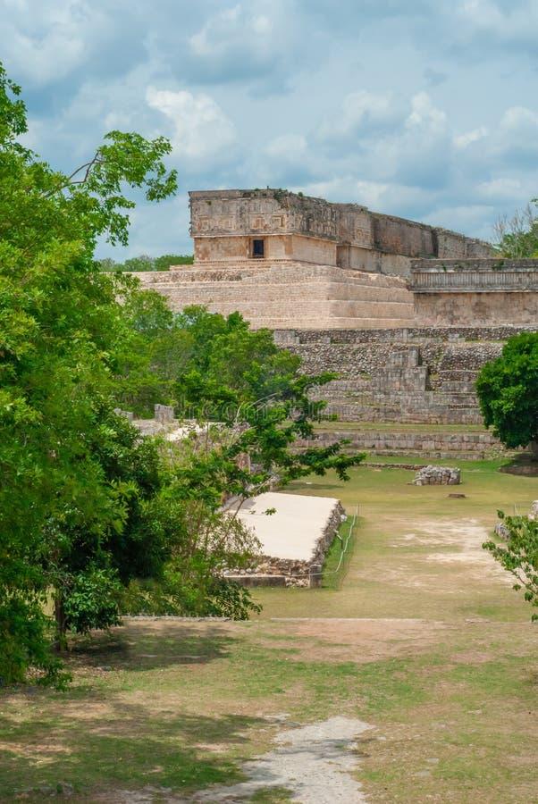 Ek Balam arkeologiskt område, i den Yucatan halvön royaltyfri foto