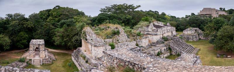Ek Balam, majowia miasta panoramiczny widok, Jukatan, Meksyk obrazy stock