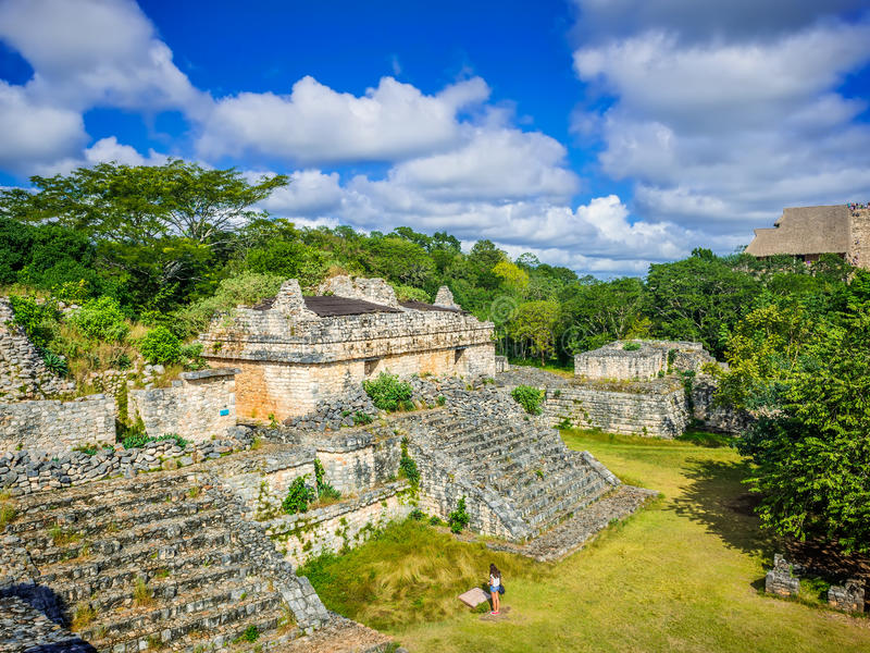 Ek Balam Majski Archeological miejsce Majowie ruiny, półwysep jukatan obraz stock