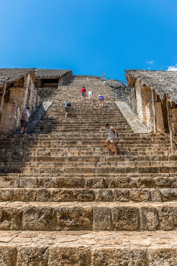 Ek Balam Mayan Acropolis, Temples, and Ruins stock photos
