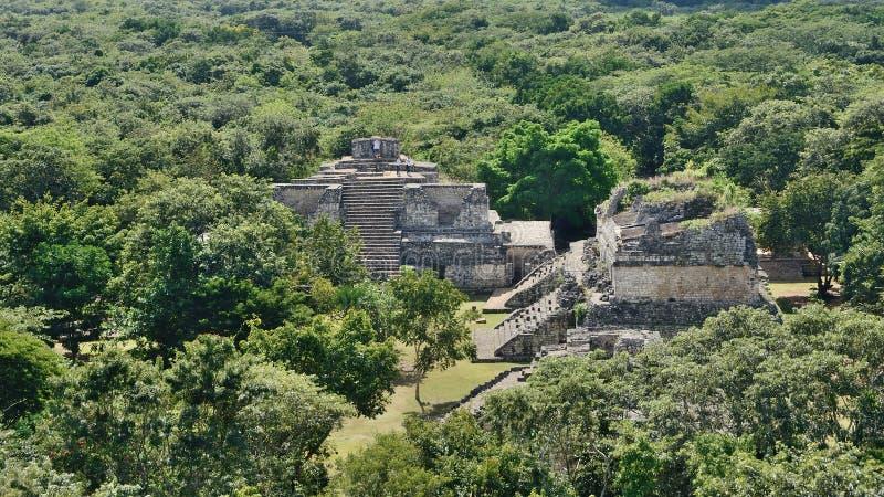 Ek Balam, Meksyk †'widok z lotu ptaka obrazy stock