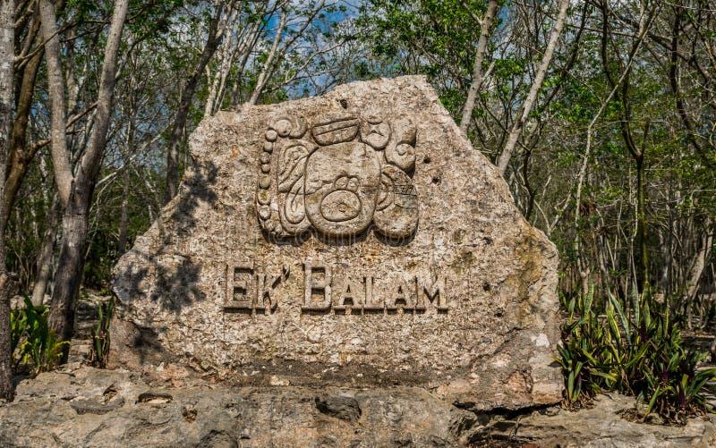 Ek Balam Mayan Acropolis, Temples, and Ruins stock images