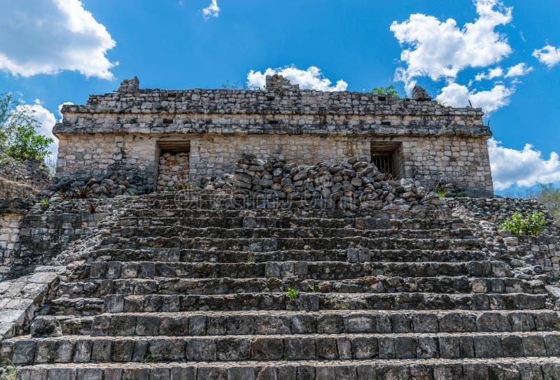 Ek Balam Mayan Acropolis, Temples, and Ruins royalty free stock photo