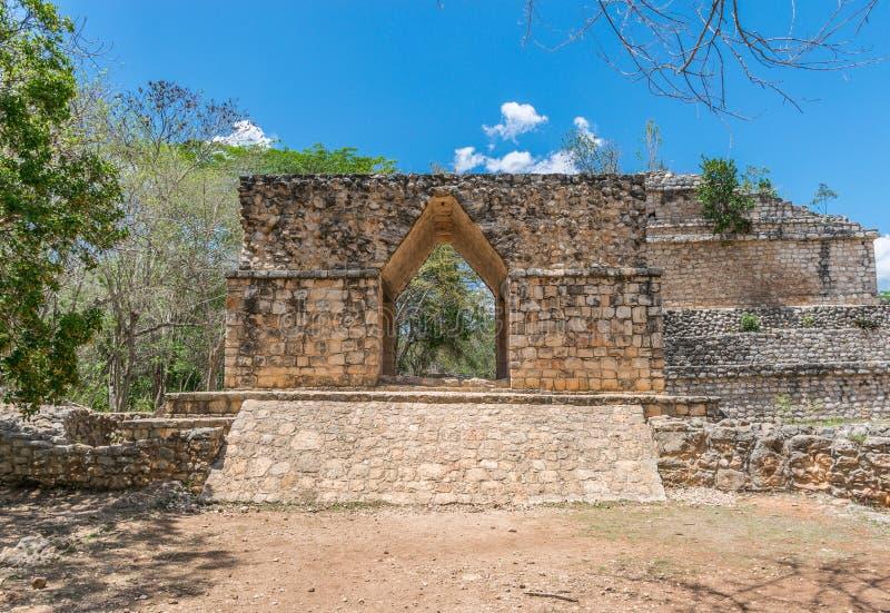 Ek Balam Mayan Acropolis, Temples, and Ruins stock photography