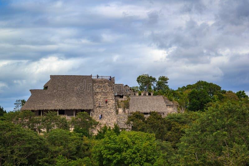 Acropolis at Ek Balam ancient Mayan city stock image