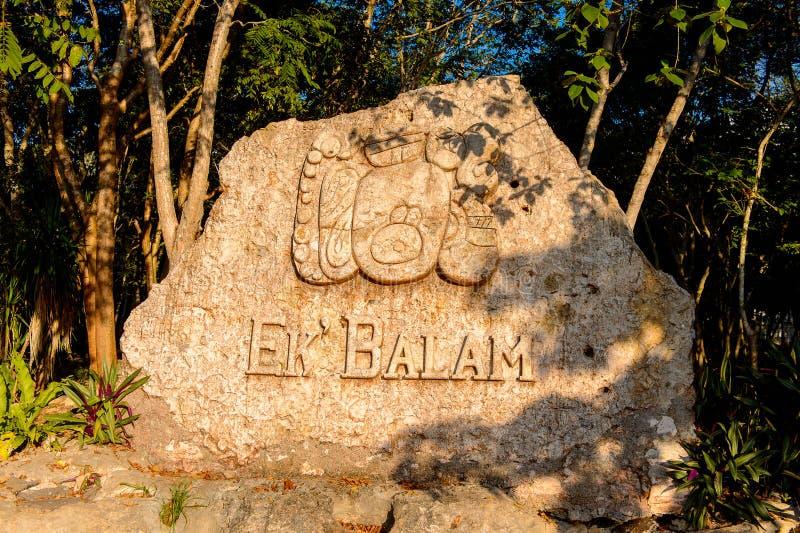 Ek Balam, um local arqueológico do Yucatec-Maya, Temozon, Yucata fotografia de stock royalty free