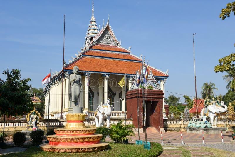 Ek Phnom buddhist temple at Battambang, Cambodia stock images