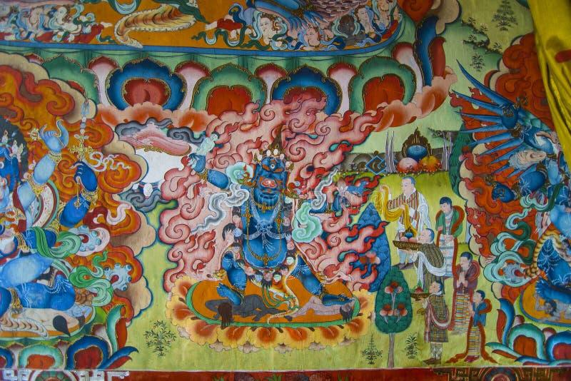 Ekajati, protetor budista de Nyingma, oferecimento butanês a ela fotografia de stock royalty free