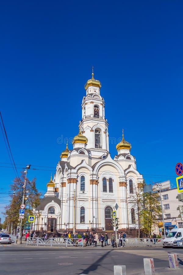 Ekaterimburgo, Sverdlovsk Rusia - 10 04 2018: El templo de Bolshoi Zlatoust fotos de archivo