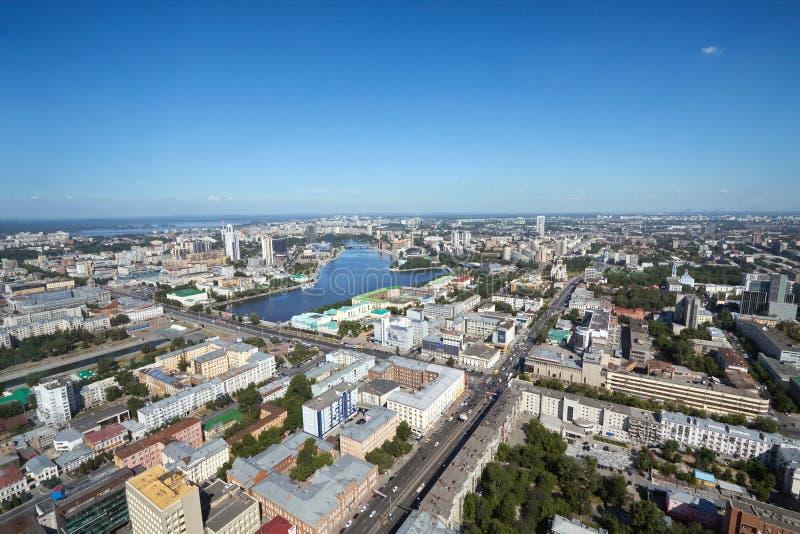 Ekaterimburgo, visión aérea imágenes de archivo libres de regalías
