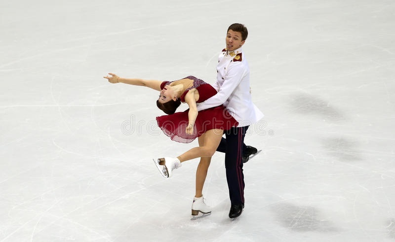 Ekaterina BOBROVA/Dmitri SOLOVIEV (RUS) lizenzfreies stockbild