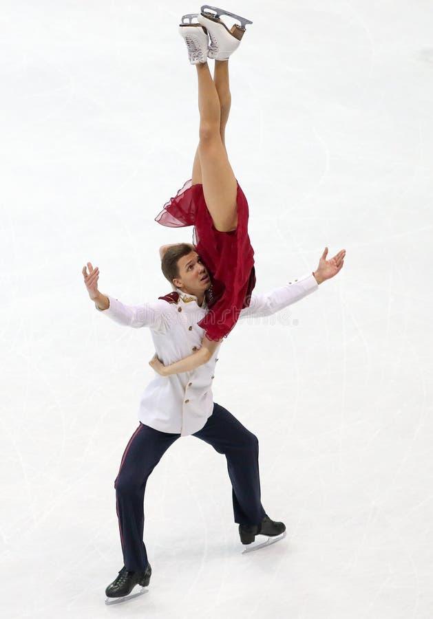 Ekaterina BOBROVA/Dmitri SOLOVIEV (RUS) stockbild