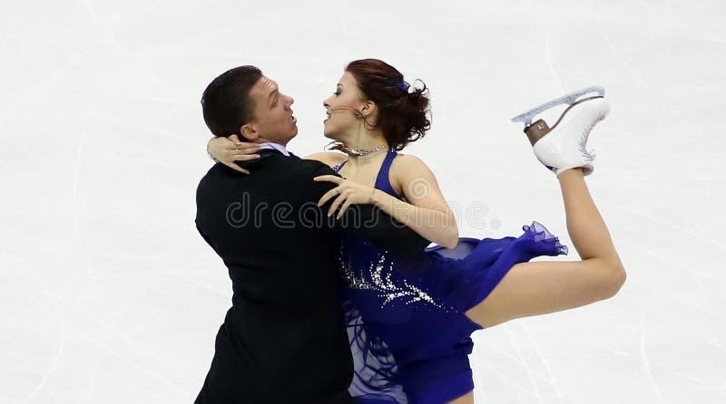 Ekaterina BOBROVA/Dmitri SOLOVIEV (RUS) lizenzfreie stockfotos