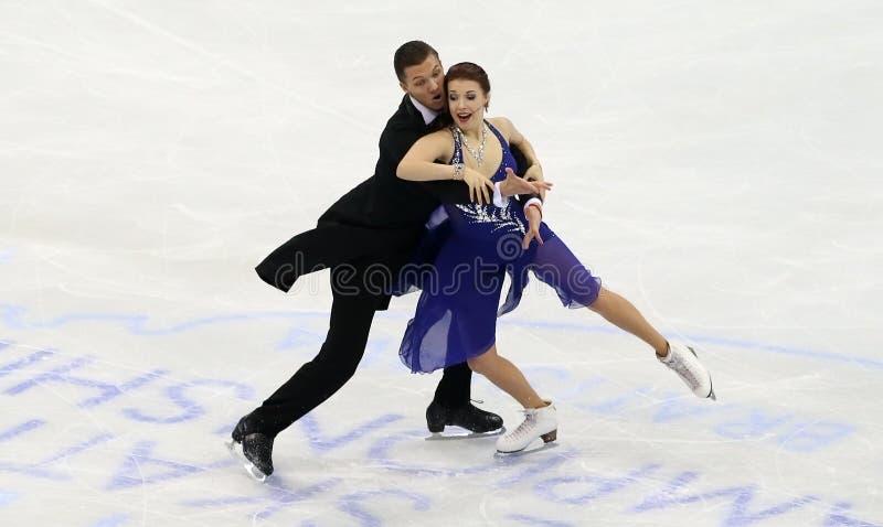 Ekaterina BOBROVA, Dmitri SOLOVIEV/(RUS) fotografia stock
