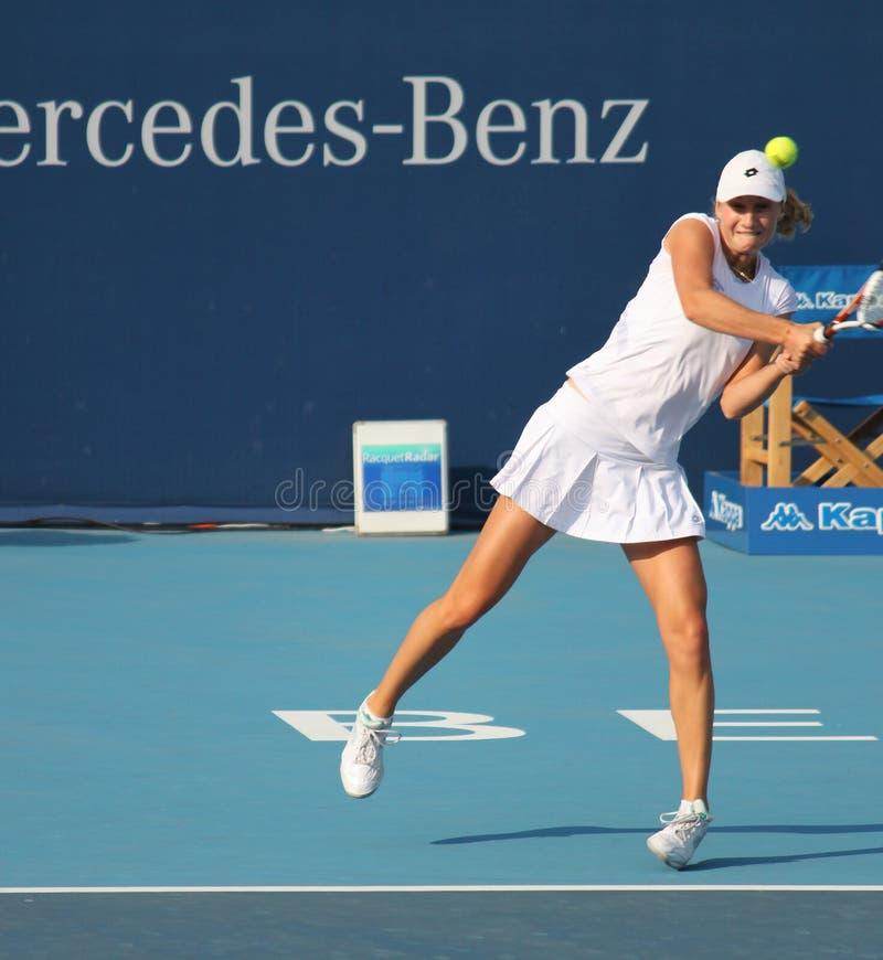 Ekaterina Makarova (RUS), jugador de tenis fotografía de archivo libre de regalías