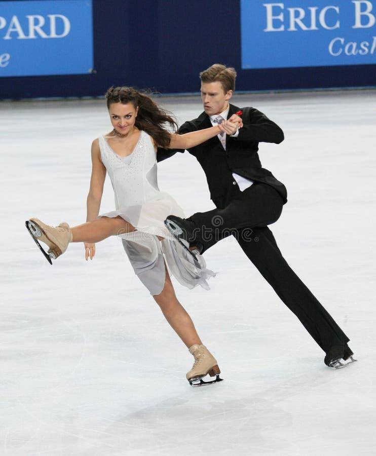 Ekaterina RIAZANOVA Ilia/TKACHENKO (RUS) zdjęcie stock