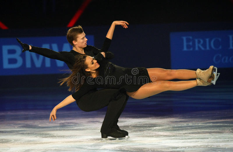Ekaterina RIAZANOVA Ilia/TKACHENKO (RUS) zdjęcia stock