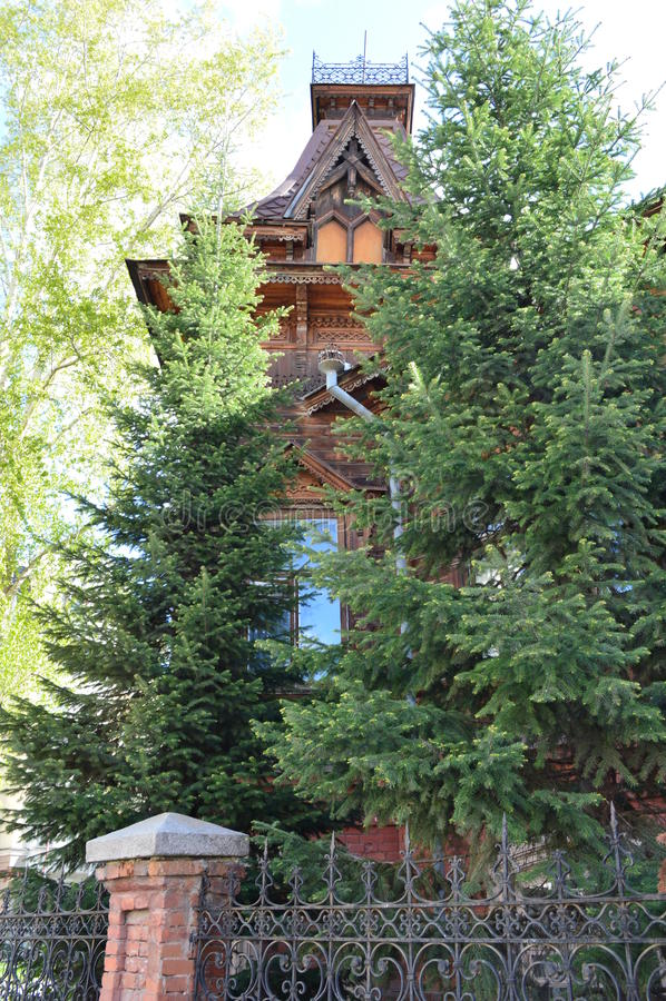 Ekaterinburg Herenhuis van Filits stock foto