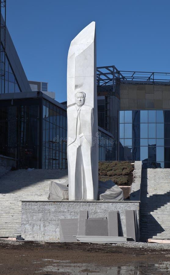 EKATERINBURG, RUSIA - 19 DE MARZO DE 2015: Foto del monumento a Boris Yeltsin foto de archivo