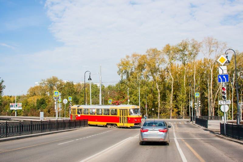 Ekaterinburg Ryssland - September 24,2016: Kollektivtrafik royaltyfria bilder