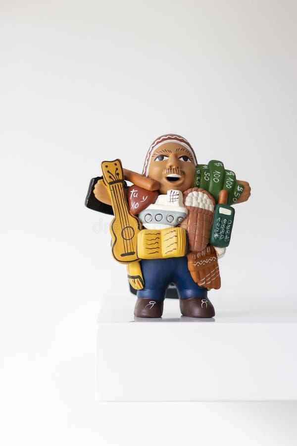 Ekeko,在秘鲁代表繁荣 免版税库存图片