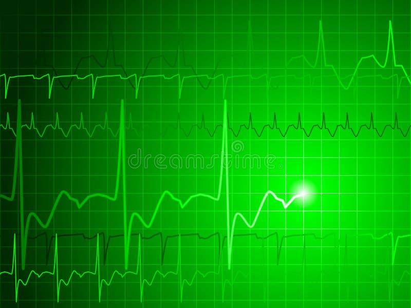 EKG background royalty free illustration