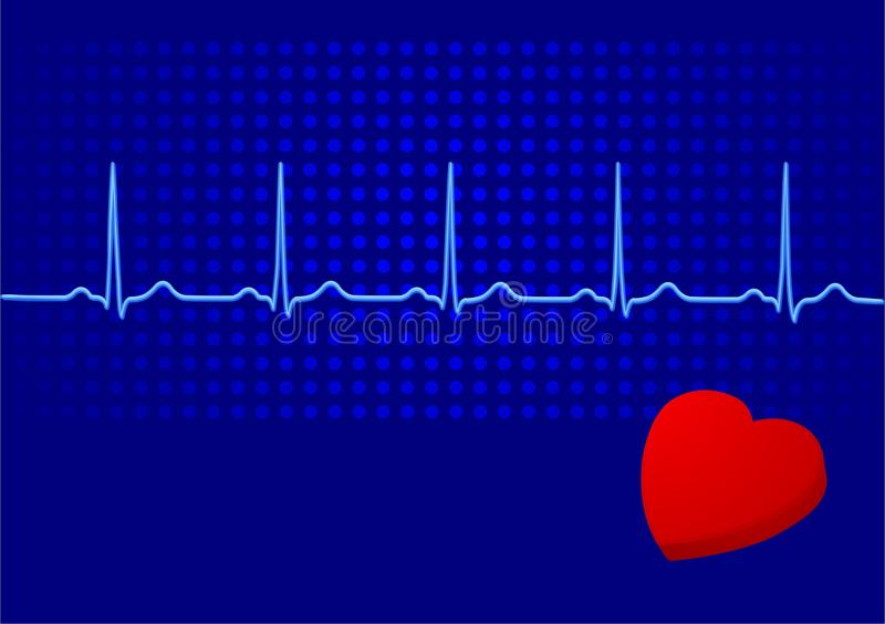 Download EKG blue stock vector. Image of vessel, venous, cardiogramme - 13536159