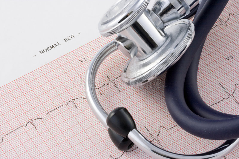 EKG e estetoscópio imagens de stock royalty free