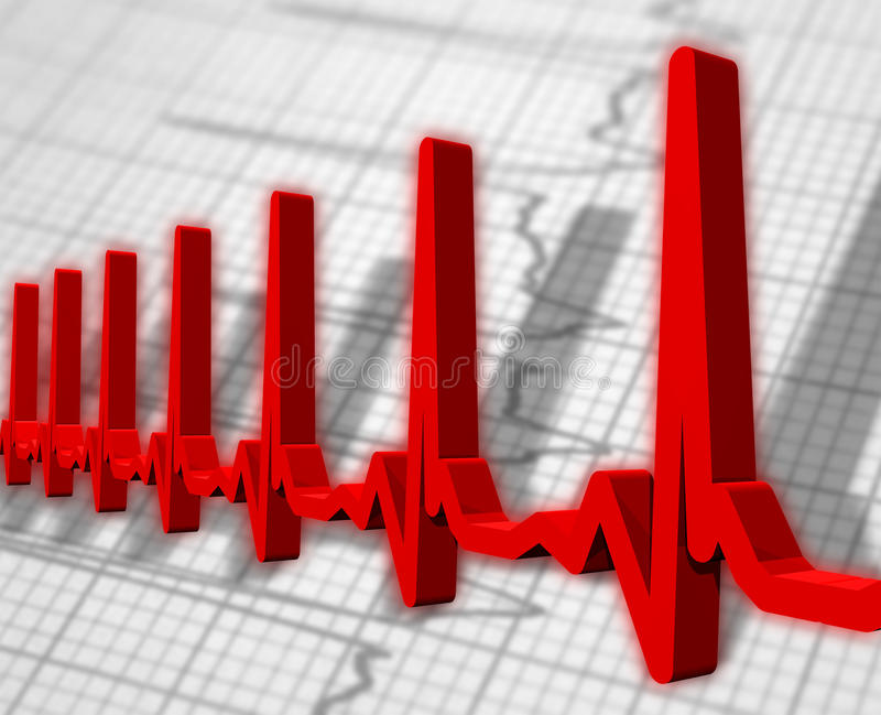 Ekg/ecg pulse diagram stock illustration