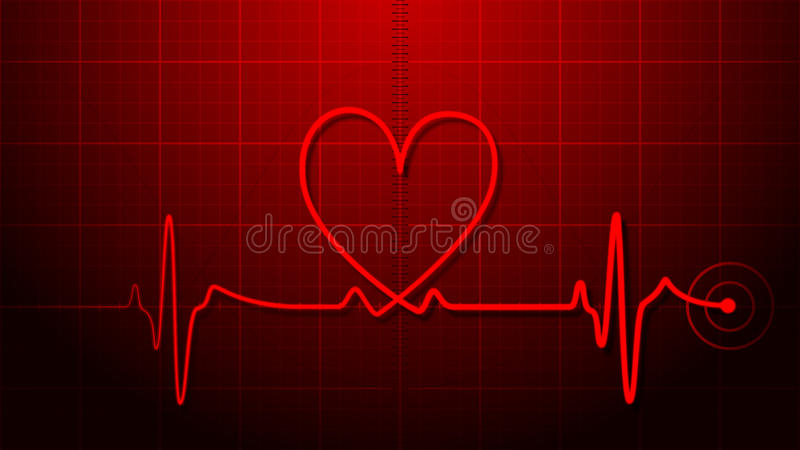 EKG - Electrocardiogram stock illustration