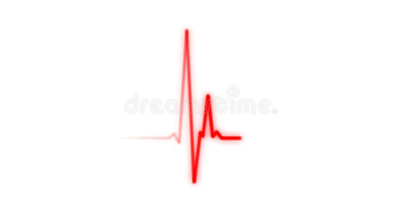 EKG Herzschlag Auf Monitor-Aufnahme Des Impulses - Rotes ...