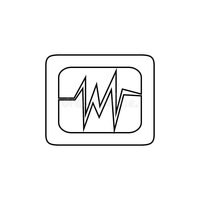 Hearth cardio icon. Health diagram symbol. Ekg, hospital, cardio, life, wave, healthcare, rate, flat, design, hearth, vector, graphic, line, medicine, rhythm vector illustration