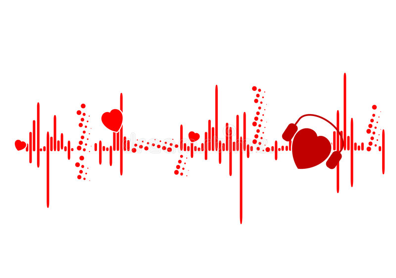 Download Ekg illustration stock illustration. Image of beats, shaped - 4665297