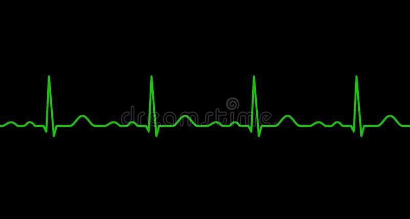 Ekg line. Heartbeat. Electrocardiography. Seamless line. Healthy heart. Medical design. Vector illustration royalty free illustration