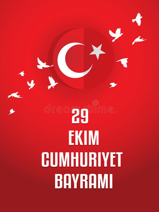 29 Ekim Cumhuriyet Bayrami royalty-vrije illustratie