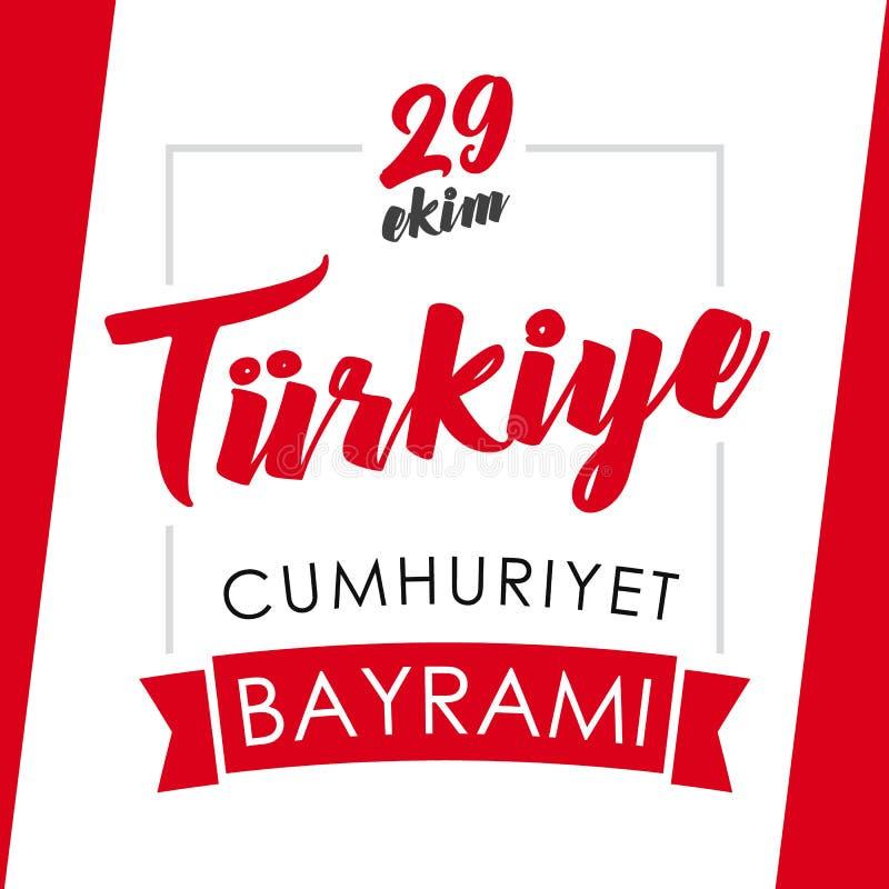 29 ekim Cumhuriyet Bayrami kartka z pozdrowieniami ilustracja wektor