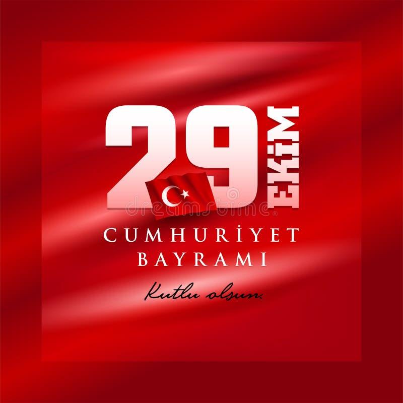 29 Ekim Cumhuriyet Bayrami - 29. Oktober Tag der Republik die Türkei stock abbildung