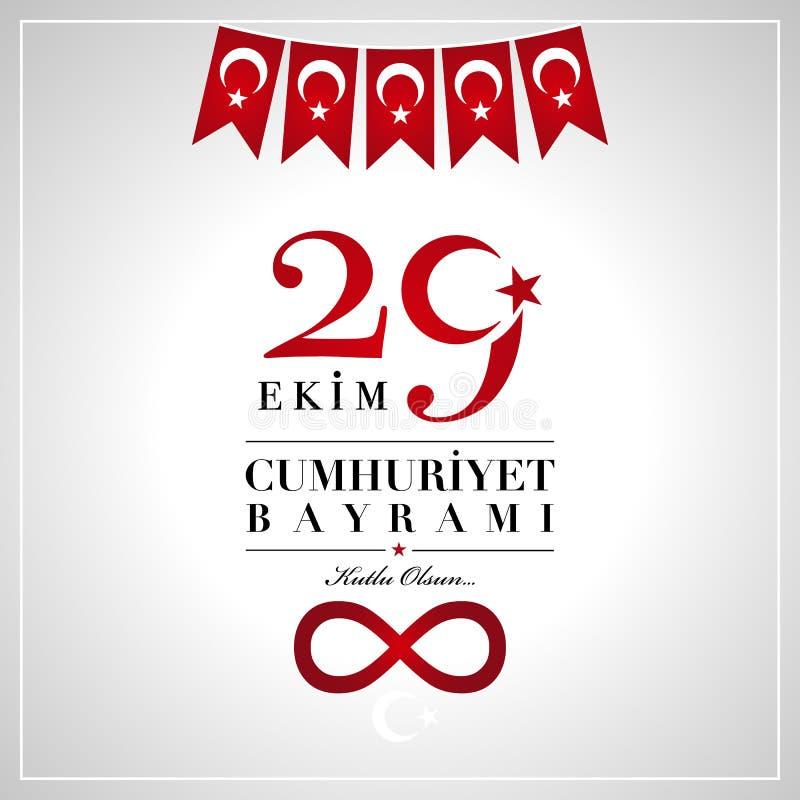 29 Ekim Cumhuriyet Bayrami. 29th October National Republic Day o vector illustration