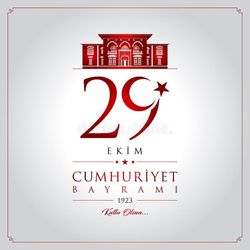 29 ekim cumhuriyet bayrami Vektorillustration vektor abbildung
